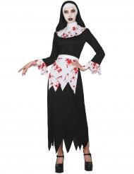 Blodig nonne kostume kvinde
