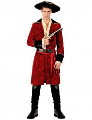 Chic pirate kostume rød og hvide mand
