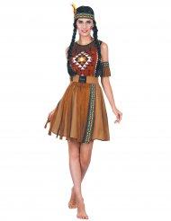 Indianer udklædning med frynser kvinde