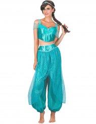 Orientalsk prinsesse kostume blå kvinde