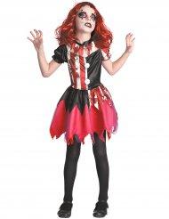 Blodig klovne kostume rød og sort pige
