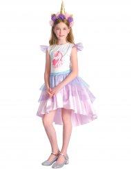Enhjørning kostume lyserød pige