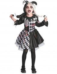 Harlekin kostume blodryppende pige