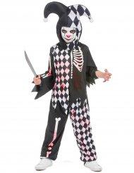 Blodig Harlekin kostume dreng