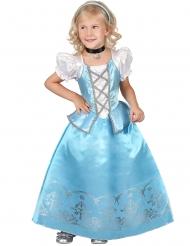 Prinsesse kostume hvid og blå pige