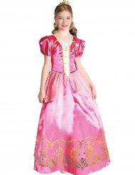 Lyserød prinsessekostume pige