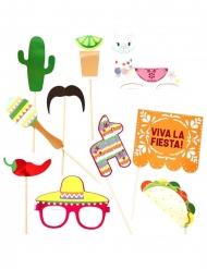 Photobooth Kit Mexikansk Fiesta 10 stk
