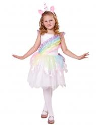 Enhjørning kostume regnbuefarvet piige