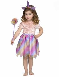 Kostume enhjørning lilla tylskørt pige