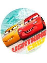 Spiselig kagedekoration disk Cars 3™ 20 cm