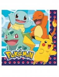 16 Papirservietter Pokemon™33 x 33 cm