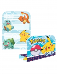 8 Invitationskort med kuverter Pokemon™