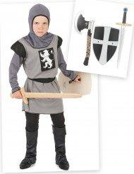 Boks med ridder kostume og tilbehør - dreng