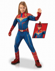 Luksus Captain Marvel™ kostume pige