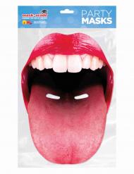 Papmaske med kæmpe mund tunge voksen