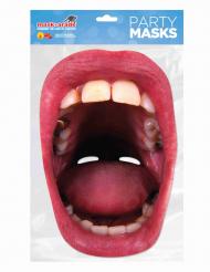 Papmaske med kæmpe mund med huller voksen