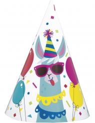 8 Festhatte i karton lama fødselsdag