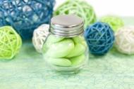 Lille glaskrukke med låg 5 cm