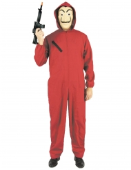 kostume rød røverdragt voksen