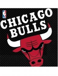 16 Papirservietter Chicago Bulls™ 33 x 33 cm