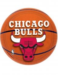 8 Små paptallerkner Chicago Bulls™18 cm