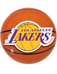 8 Små paptallerkner Lakers™ 18 cm