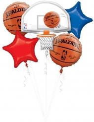 Buket med 5 balloner i aluminium - NBA Spalding™