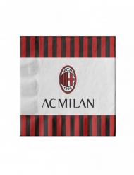 20 Papirservietter AC Milan™ 33 x 33 cm