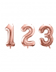 talballon aluminium rosa-guld 86cm