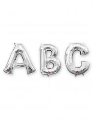 Bogstavsballon aluminium 86cm - sølv