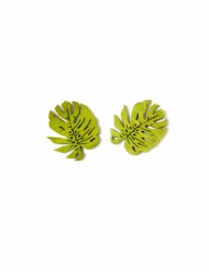 10 træblade konfetti 4 cm