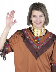 Halsbånd indianer med fjer voksen