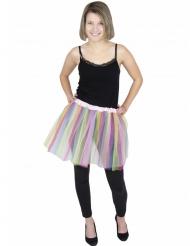 Tylskørt ballerina flerfavet pastel voksen