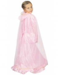 Prinsesse kappe lyserød og guld - barn