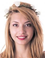 Krone med hvide blomster voksne