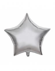 Ballon aluminium sølvstjerne 40 cm