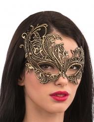 Guldmaske i macramé stof