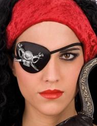 Klap for øjet pirat med kranie voksen
