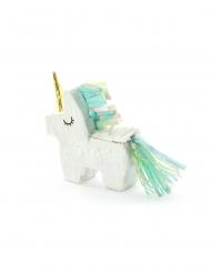 Mini Enhjørning Piñata hvid 8 x 2,5 cm
