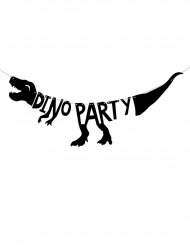 Dino Party Guirlande sort i pap 90 x 20 cm
