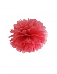 Pompon til at hænge op rød 35 cm