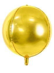 Aluminium Ballon rund guld 40 cm