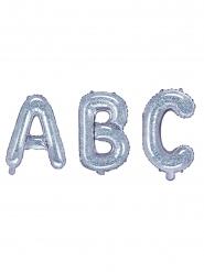 Ballon aluminium bogstav 35 cm - farvestrålende