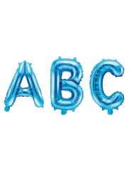 Aluminium bogstav ballon blå 35 cm