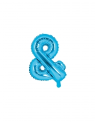 Aluminium ballon & symbol blå 35 cm