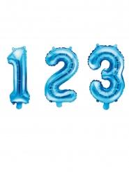 Aluminium tal ballon blå 35 cm