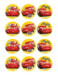 12 Spiselige dekoration til småkager Cars 3™ 6 cm