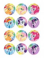 12 Sukkerdekorationer til småkager My Little Pony™ 5,8 cm
