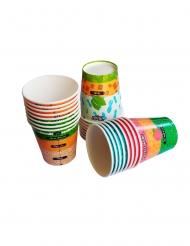 Sæt 24 kopper med cocktailopskrifter