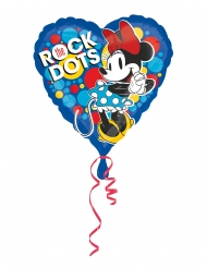 Aluminium Ballon hjerte Minnie™ retro 43 cm